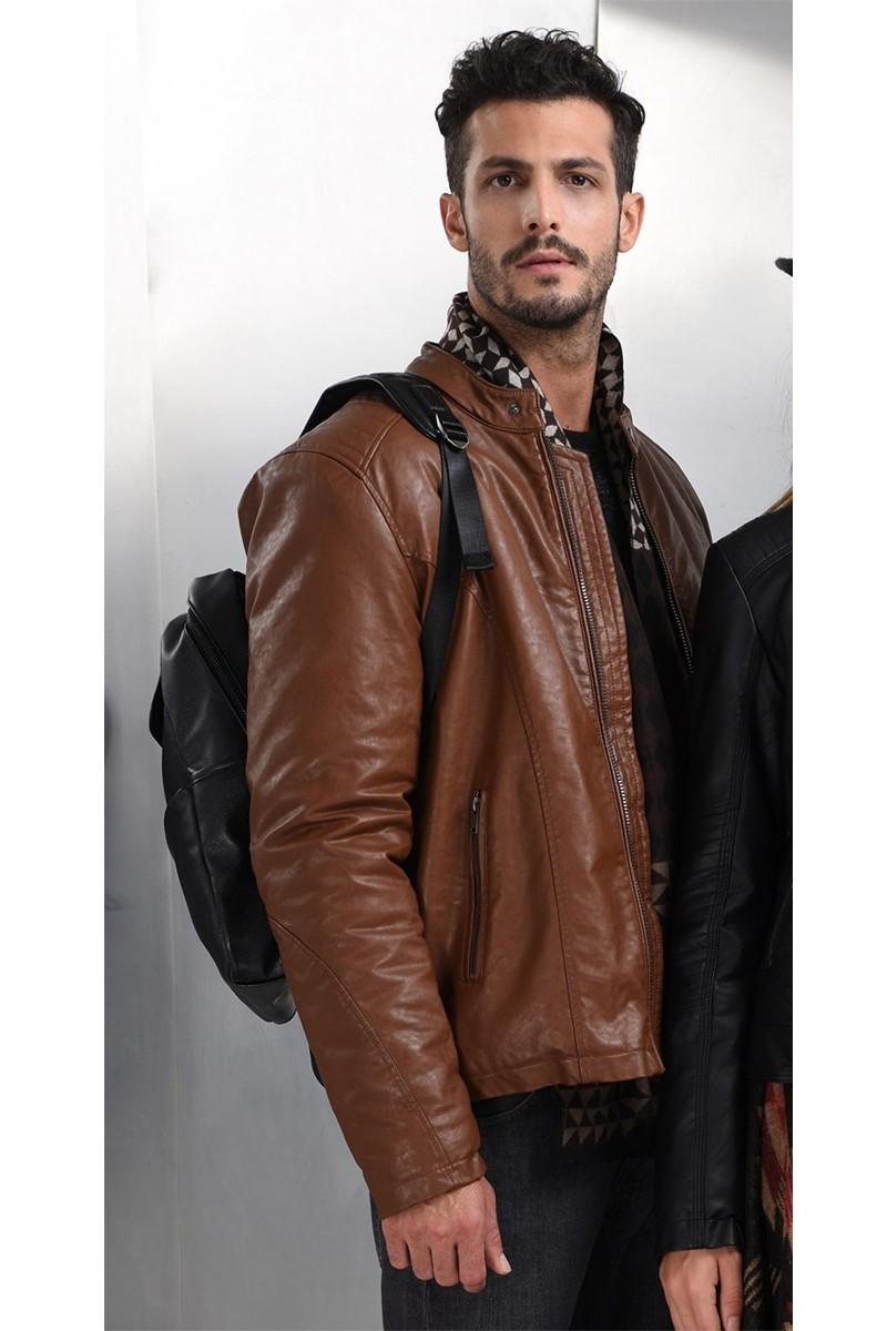 Ανδρικό Μπουφάν Jacket Δερμάτινο 42-201-012