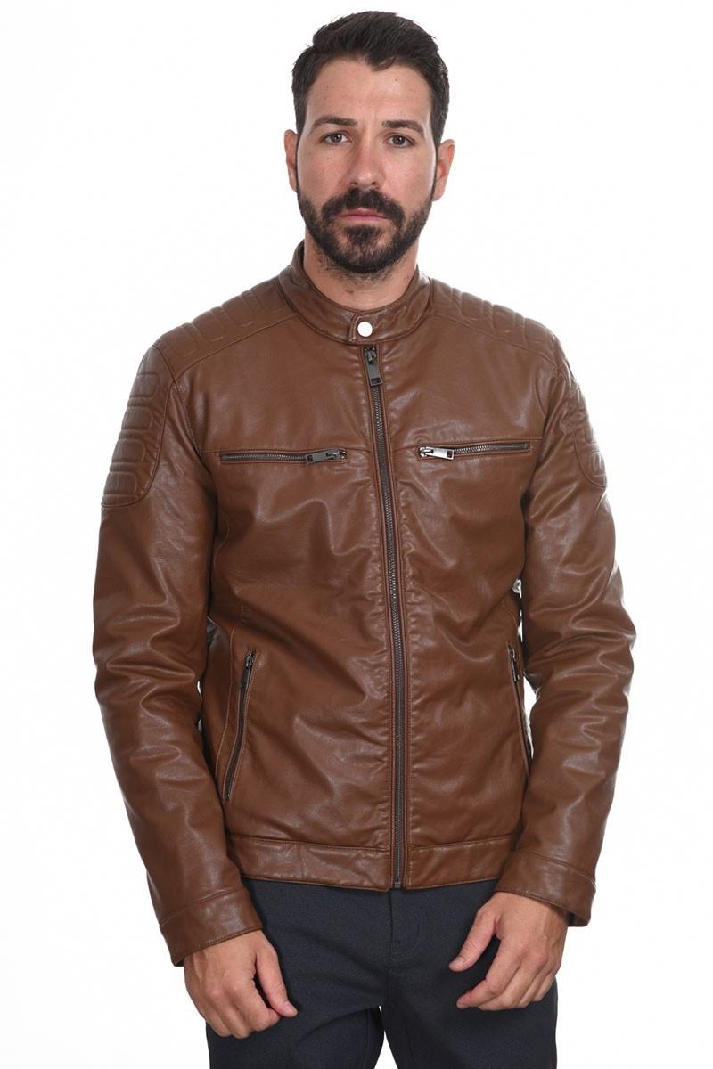 Ανδρικό Μπουφάν Eco Leather Jacket 44-201-044